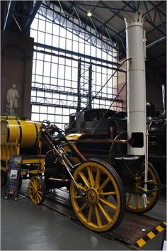 How it first began, Stephenson's Rocket at the National Railway Museum, York