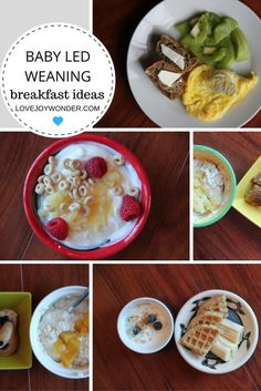LoveJoyWonder.com - Baby Led Weaning and Toddler Breakfast Ideas