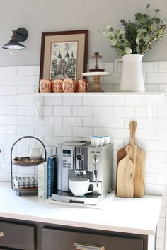 The Inspired Room Kitchen Coffee Station
