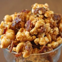 Bacon Caramel Popcorn omg! sweet, salty...... use thick cut crisp bacon.....heaven...... I hear angels singing...... and hell..... did I eat the whole bowl!!