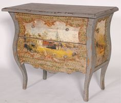 french inspired painted furniture   ... Furniture » Bedroom Furniture » Bedside Table » French Inspired