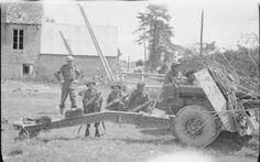 A anti-tank gun in position at Norrey-en-Bessin during Operation 'Epsom', 27 June The crew had just destroyed a Panther tank from SS-Hitlerjugend during a German counter-attack Ww2 Pictures, Ww2 Photos, Epsom, Battle Of Normandy, Normandy Beach, Panther, Big Guns, Military Photos, Army & Navy
