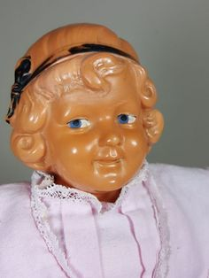 """P1063/ Alte Schildkröt Puppe """" Modell Y """" um 1930 ca. 36 cm."""