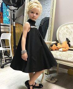 Одежда для девочек, ручной работы. Платье чёрное