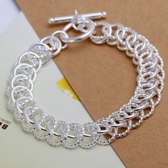 New 925 Sterling Silver European Charm Fashion Bracelet #Ring/beads/h022 - http://www.wonderfulworldofjewelry.com/jewelry/bracelets/tennis/new-925-sterling-silver-european-charm-fashion-bracelet-ringbeadsh022-com/ - Your First Choice for Jewelry and Jewellery Accessories