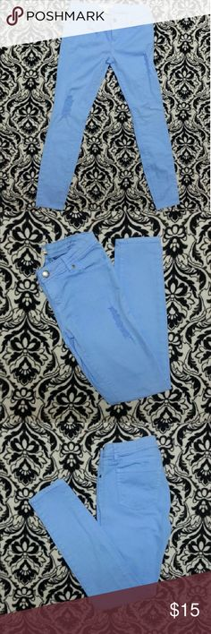 Cute baby blue skinny jeans Have only been worn once. In perfect condition. Forever 21 Jeans Skinny