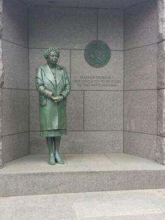 Eleanor Roosevelt statue at the FDR Memorial