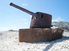 Wake Island: This used to have concrete around it. The typhoon must have taken it away.kind of hard to believe. Wake Island, Islands In The Pacific, Diego Garcia, Island Pictures, St Helena, Armies, Guam, South Pacific, Bunker
