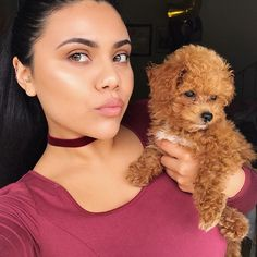 Two of my all-time favorite things. Nude pink undertone lips and puppies 💄🐶 ft. Princess Leia & @mikasabeauty Bodyography Electric Lip Slide 'Skintimacy' & Lip Pencil 'Barely There' (save some $ using pc in bio)