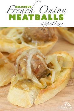 Savory caramelized onions with a delicious broth smothered in cheese make Instant Pot French Onion Meatballs a perfect choice as an appetizer or even a meal served over rice or noodles. You know you are intrigued and want to take a bite. So dive in and enjoy this delicious appetizer recipe. #devourdinner #devourpower #meatballs #Frenchonion #instantpot #instantpotrecipe #appetizer #appetizerrecipe #easyrecipe # Easy Appetizer Recipes, Yummy Appetizers, Easy Snacks, Easy Meals, Meatball Appetizers, Dinner Recipes, Best Instant Pot Recipe, Instant Recipes, Beef Recipes