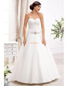 Jaro Bez rukávů Přírodní Svatební šaty 2014