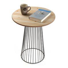 Mesa auxiliar madera natural #mesa #madera#casa #versa | Auxiliary table made of natural wood #table #wood #home #versa