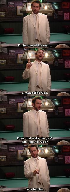 """When he """"found"""" God.   23 Times Charlie Kelly Was The Champion Of Our Hearts On """"It's Always Sunny In Philadelphia"""""""
