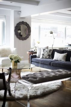 Neutral Hues // mixed textures in the living room