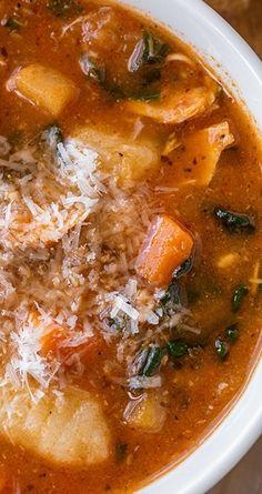 Hearty Italian Chicken & Autumn Veggie Soup