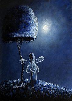 Topaz Fairy Original Artwork by Shawna Erback