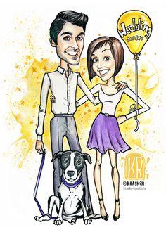 оригинальный подарок на свадьбу или годовщину, стильный мультяшный портрет для молодой пары, счастливые и влюбленные, шарж, шаржевая фэшн иллюстрация, художник-иллюстратор (новосибирск)
