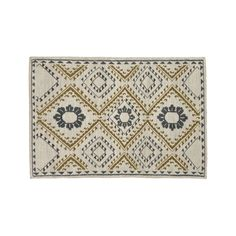 Shop Bessie Dove Wool Dhurrie 4'x6' Rug.  Genevieve Bennett has created a gem of a kilim rug, incorporating elements from intricate Indian mehndi designs and decorative motifs found on jewelry in the British Museum.