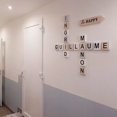 Ingrid Brocard a ajouté une photo de son achat Deco Scrabble, Scrabble Letters, Wooden Letters, Smooth Walls, Scandinavian Style, Decoration, Contemporary Style, Home And Family, Gray Color