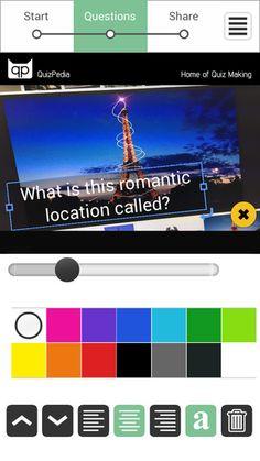 Quiz Creator - Du kan lave flotte og farverige quizzer på din pc, tablet eller telefon. Du kan indsætte billeder både i spørgmålet og svaret. Du deler via link eller de sociale medier. Der er også et quizbibliotek, men man kan desværre ikke ændre i de andres quizzer, men man kan afprøve dem. Gratis kan man lave 15 quizzer. Appen er gratis.