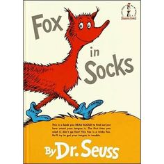 Fox in Socks (By Dr. Seuss)This Fox is a tricky fox. Hell try to get your tongue in trouble. Seuss gives fair warning to anyone brave enough to read along with the Fox in Socks, who likes to play tongue-twisting games. This Is A Book, The Book, Books To Read, My Books, Story Books, Beginner Books, Preschool Books, Preschool Ideas, Teaching Ideas