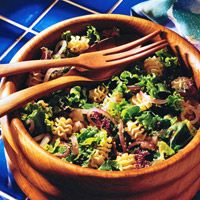 Ruffled Pasta with Wilted Greens