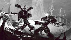 The demon, chaos, warhammer fight, terminator, grey knights desktop background Field Wallpaper, Horse Wallpaper, Hd Wallpaper, Grey Knights Wallpaper, Warhammer 40k, Knight On Horse, Desktop, Warriors Wallpaper, Cute Sketches