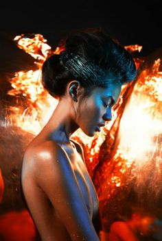 Blazing Beauty Editorials - The Ring of Fire Story for Make Up Trendy Magazine Heats Up (GALLERY)
