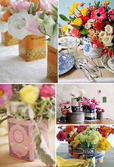 Букеты на столики для гостей - Декор свадьбы