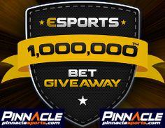 1.000.000 esports bet at Pinnacle #esports