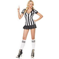 Adult Pleated Penalizer Referee Costume