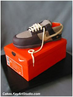 Nike Sneaker / Running Shoe on the Box Cake | Flickr - Photo Sharing!