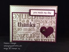 So Many Toys So Little Time...: Stampin Up! Pals Paper Arts 265, World of Thanks, Go Wild