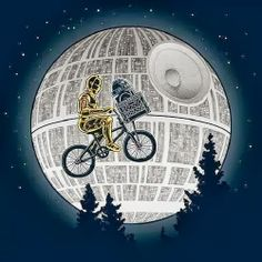 """Moonshot"" | Via: I Love Star Wars (Google Plus) | #starwars #et #c3po #r2d2 #deathstar"