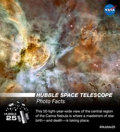 .@NASA_Hubble marks 25 years of amazing discoveries this month! Learn more about #Hubble25: http://hubble25th.org