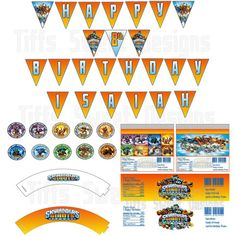 Skylanders Party Kit DIY Printable by TiffsSweetDesigns on Etsy, $8.00