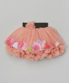 This Dusty Rose Petal Tutu Skirt - Infant, Toddler & Girls by Tutus by Tutu AND Lulu is perfect! #zulilyfinds