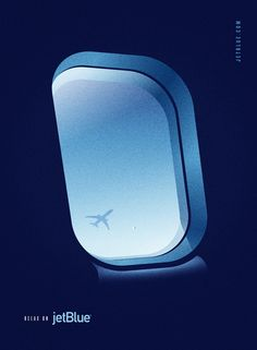 Design studio Lab Partners in Oakland, California created these wonderful vintage-style JetBlue poster ads. The posters were made for Goodby, Silverstein, & Partners as part of the San Francisco ad agency's pitch for the JetBlue account. Funny Commercials, Funny Ads, Funny Pranks, Funny Jokes, Graphic Design Typography, Branding Design, Blue Poster, Commercial Ads, Poster Ads
