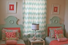 Love this...thinking of adding coral in with the blue, yellow & green color scheme we already have!