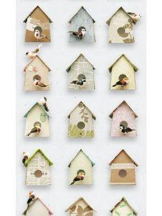 Huisjes behang