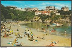 The Harbour and Beach, Newquay, Cornwall, 1972 - Photo Precision Postcard