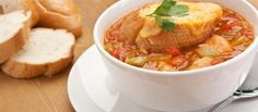 Autumn vegetable soup with cheesy toasts #recipe #food
