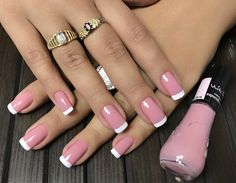 You sure you love your nails,you're always looking for new and unique styles, inspiring photos that you can see below with a brilliant nail art designs which you can use it for your,everyday lifestyle. Pink Nail Polish, Pink Nails, White Polish, Nail Manicure, Toe Nails, Luxury Nails, French Tip Nails, Best Nail Art Designs, Dream Nails