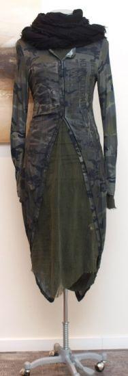 rundholz dip - Longjacke Camouflage Print grey - Winter 2014 - stilecht - mode für frauen mit format...