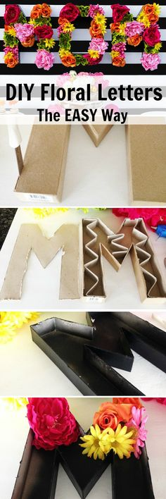 DIY Floral letters the EASY WAY!! Full directions and ideas here!