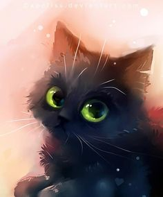 Lovely cats, digital illustrations by Rihards Donskis aka Apofis – Ego – AlterEgo I Love Cats, Crazy Cats, Cute Cats, Warrior Cats, Anime Animals, Cute Animals, Cute Animal Drawings, Cat Drawing, Drawing Eyes