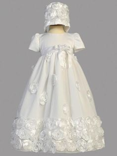 "Little Darlings England Girls Dupioni Silk Christening Shoe Size 2-4.5/"""