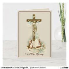 Catholic Memorial, Catholic Mass, Roman Catholic, Images Of Christ, Plant Design, Custom Greeting Cards, Card Sizes, Thoughtful Gifts, Christmas Cards