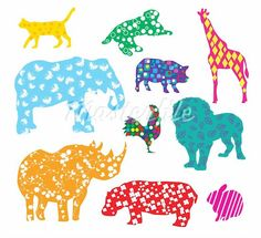 patterned animal
