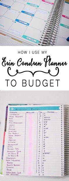 How I Use My Erin Condren Planner To Budget - The House of Plaidfuzz